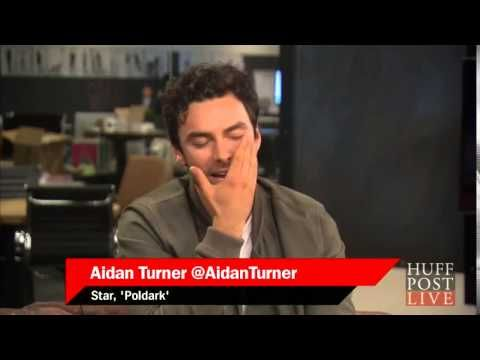 AIDAN TURNER // full interview on HuffPostLIVE {POLDARK}