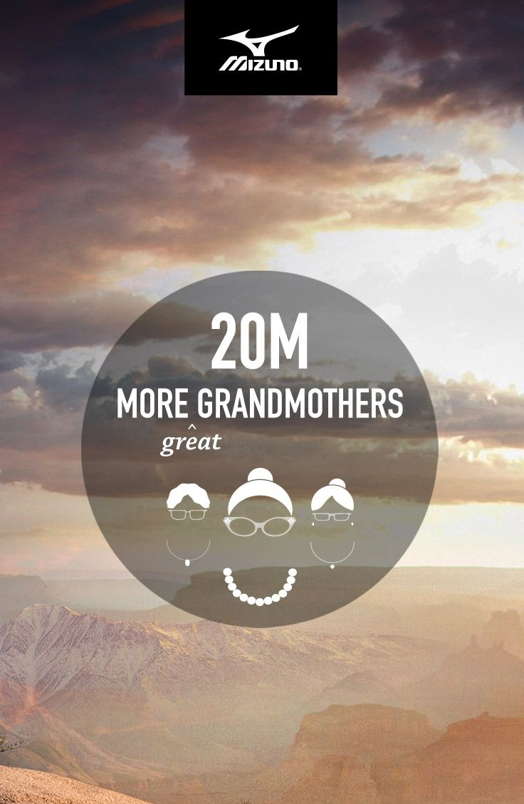 Mizuno believes running is powerful. So they commissioned a statistical analysis to find out what the world could look like if everybody ran. 20 million more great grandmothers to hug is just one awesome possibility. The rest of the results may surprise you. #IfEverybodyRan