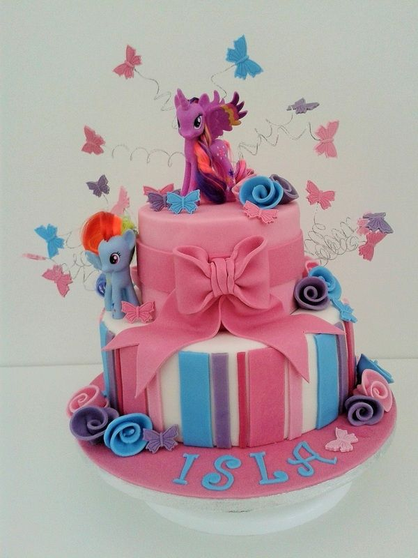 My Little Pony 2 tier Cake