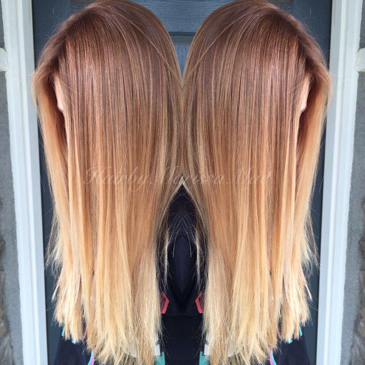 Copper blonde color melt