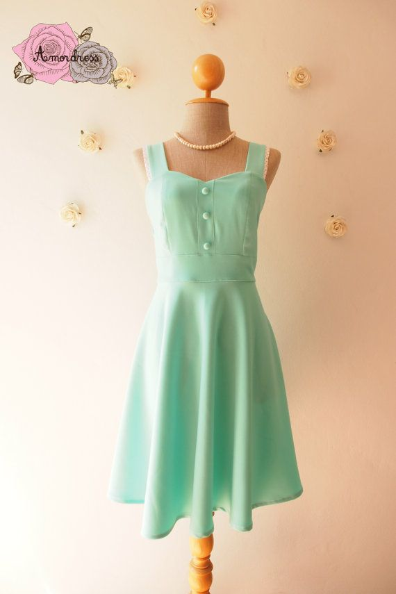 Mint Green Party Dress Vintage Inspired Mint Green door Amordress