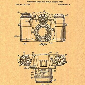 "Photographic Camera Patent Art Print Poster (8.5"" x 11"")"