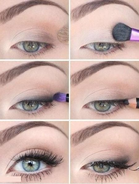19 Soft makeup looks I like the dark eye shadow above the top lash line. it's…
