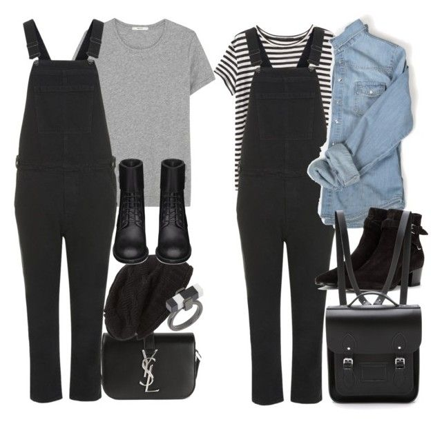 """""""Inspired with long black overalls"""" by nikka-phillips ❤ liked on Polyvore"""