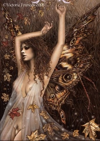 Artwork by Victoria Frances, love the detail of the wings and the way the fabric flows and transparent