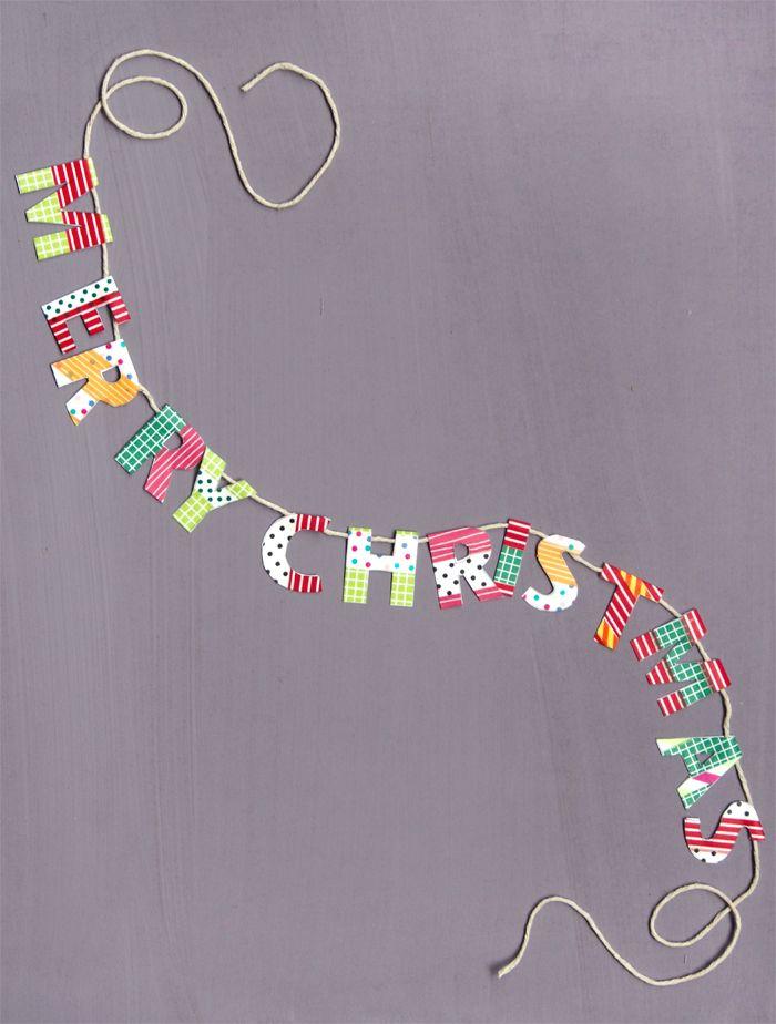 mini washi tape Christmas banner