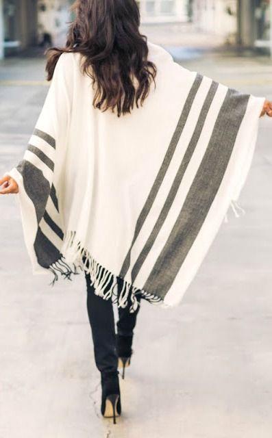 Poncho sweater.