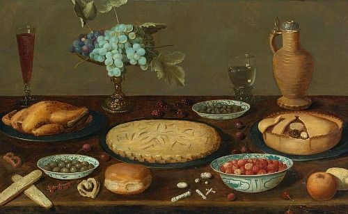 Unknown Flemish Still Life With Meat Pies And Roast