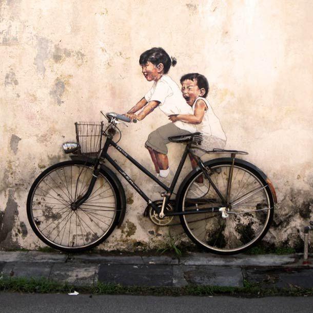 Le Street Art poétique et amusant d'Ernest Zacharevic
