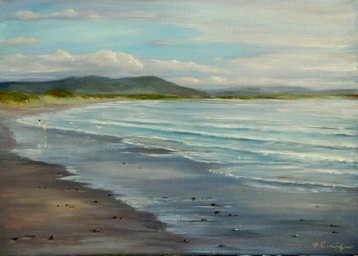 "Inch beach co Kerry Ireland 14"" x 18"" oil"