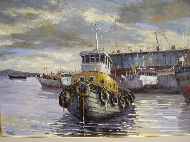 Remolcador en el Puerto..Hugo Rossi