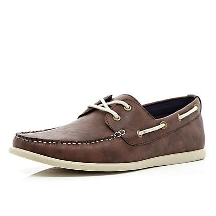 For the guys with charcoal grey pants...Brown boat shoes - boat shoes - shoes / boots - men