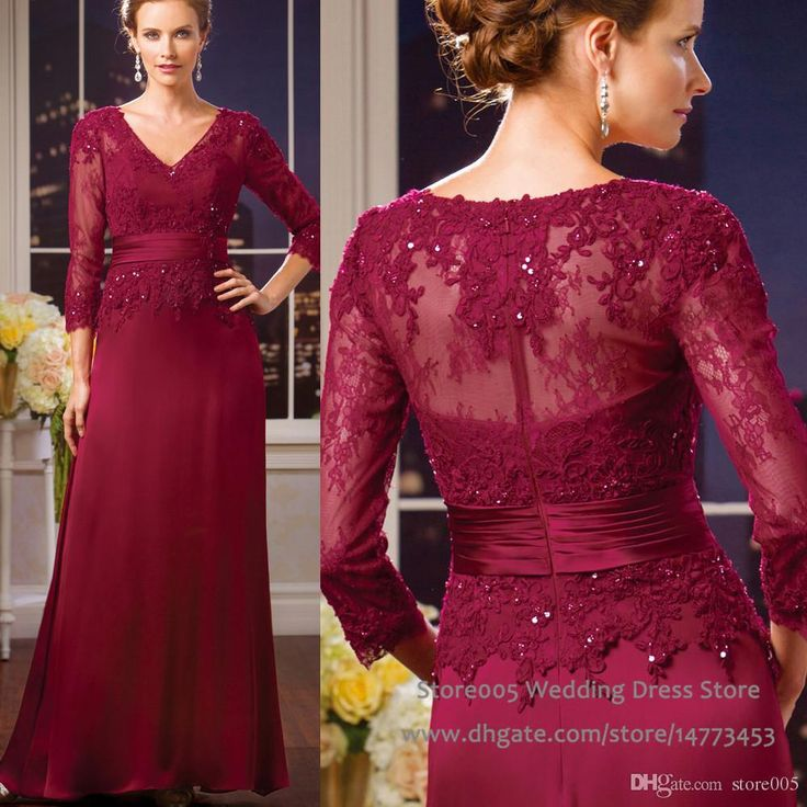 2016 Winter Burgundy Mother Of The Groom Dresses Beaded Lace Mothers Dress Gowns 3/4 Sleeve V Neck Vestidos De Fiesta M2230 Beach Wedding Mother Of The Bride Dresses Burgundy Mother Of The Bride Dress From Store005, $128.8| Dhgate.Com