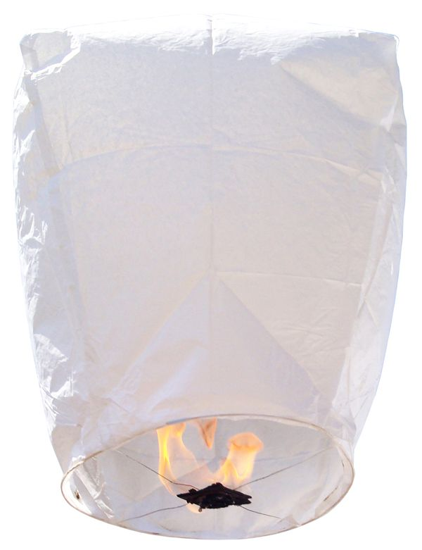 Eclipse White Sky Lantern. It would be cool to release these at the reception or instead of rice at a wedding.