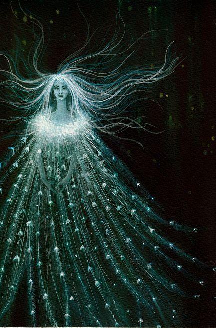 De la Naturaleza de hadas ninfas ≍ duendes mágicos, espíritus, duendes y las hadas del bosque alados - ... este parece ser una sílfide;)