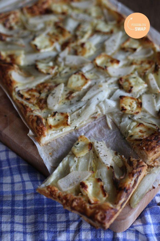 Vegetarische plaattaart met witlof, brie en peer   Taste Our Joy!