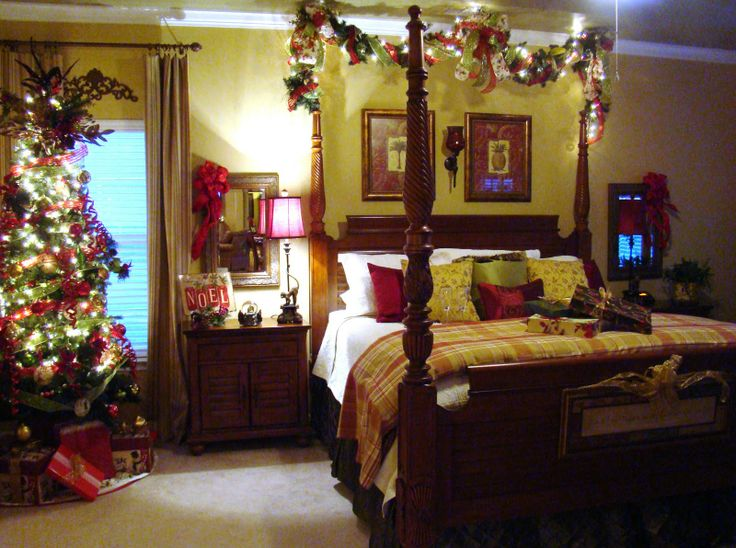 166 best Christmas Bedroom images on Pinterest Abstract At home