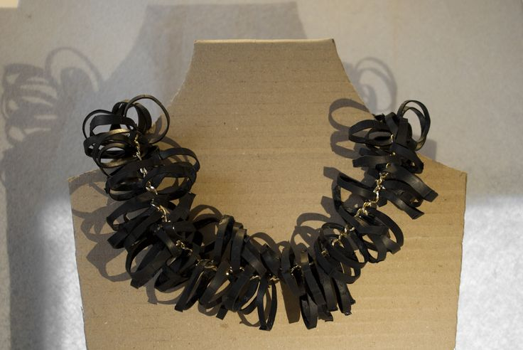 inner tube necklace/  Pop me up