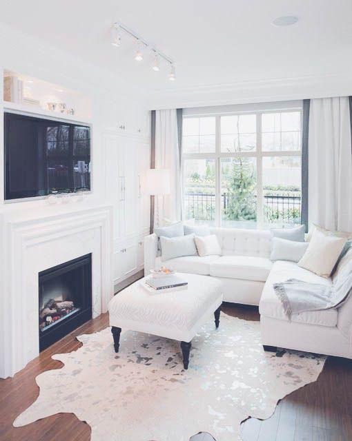 25 beste idee n over kleine woonkamers op pinterest klein wonen decoreren kleine ruimtes en - Een kleine rechthoekige woonkamer geven ...