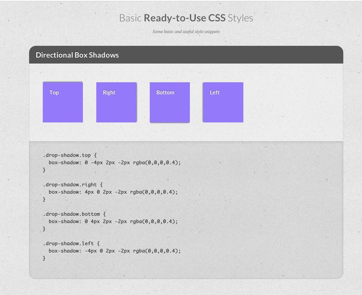 Basic Ready-to-Use Css Styles Very Handy  http://tympanus.net/Tutorials/BasicReadyToUseCSSStyles/