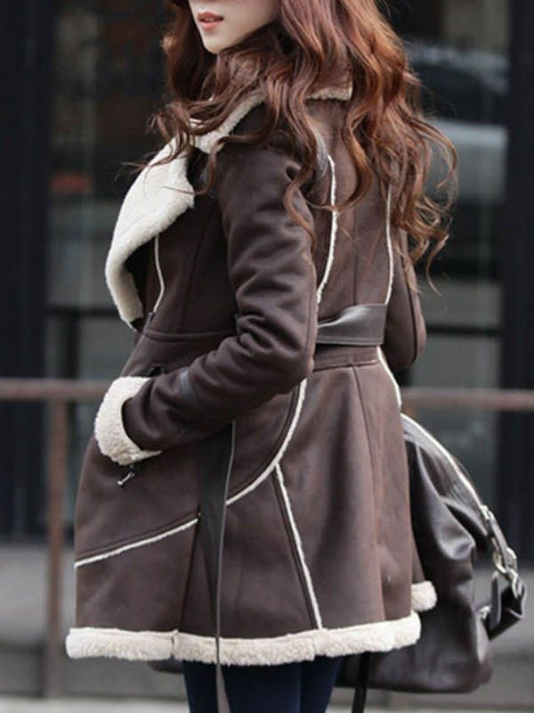 冬ファッションセーム革絨ウールムートンコート - レディースファッション激安通販|20代·30代·40代ファッション