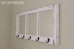 an old mirror repurposed