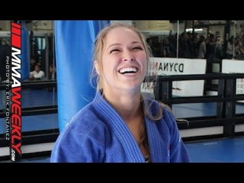 Ronda Rousey Warms Up by Tossing a Jiu-Jitsu Black Belt...just a normal day. More info at RondaRousey.net / #ArmbarNation