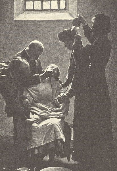 """Force-feeding in prison ~ Pankhurst was horrified by the screams of women being force-fed during hunger strikes. In her autobiography she wrote: """"I shall never while I live forget the suffering I experienced during the days when those cries were ringing in my ears"""