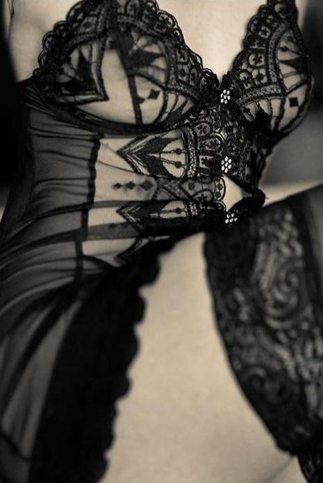 Black lace close-up