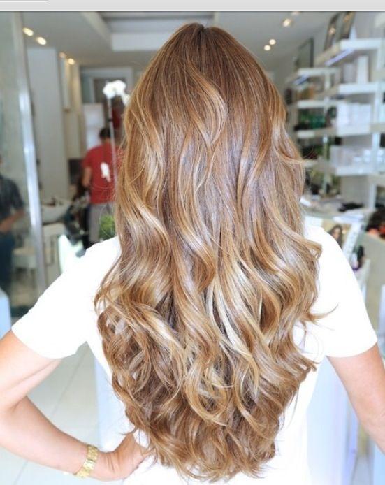 Beautiful long blonde hair.