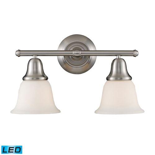 Photo Of Elk Lighting Berwick Brushed Nickel LED Bathroom Light