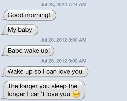 100 Good Morning Quotes For Him Messages For Boyfriend: 17 Best Ideas About Cute Good Morning Texts On Pinterest
