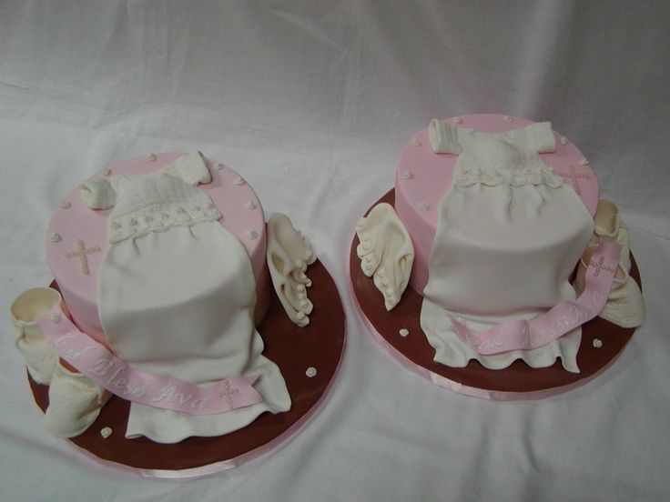 Christening Cake Designs For Twins : girls twins baptism cakes twin girl christening this was ...