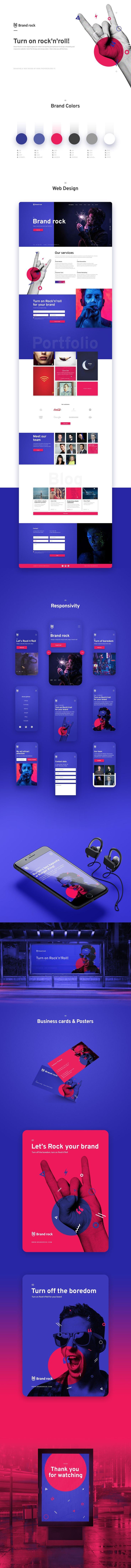 Branding and modern website design presentation