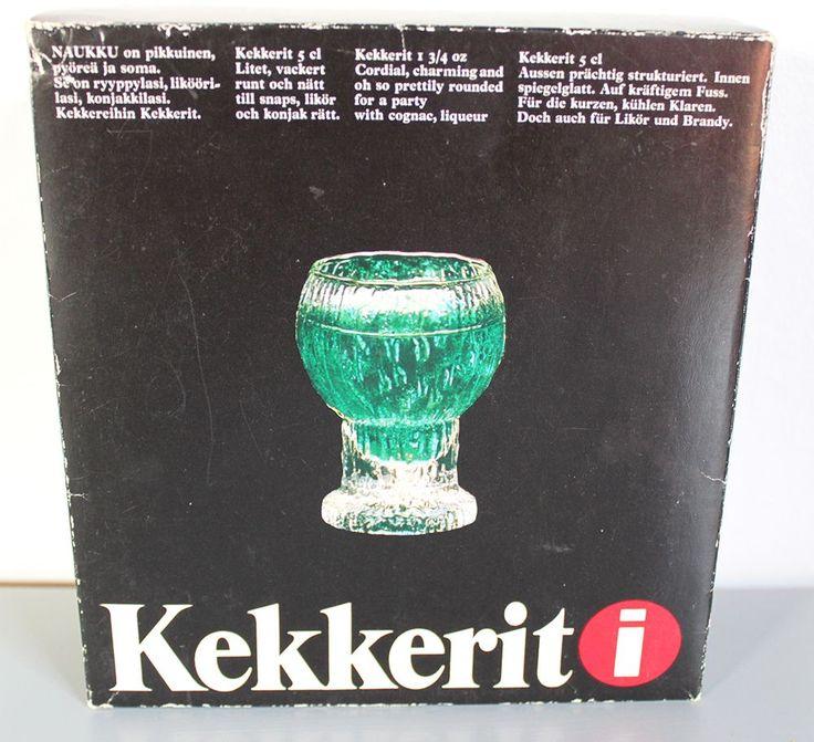 För den som vill ha snaps på julbordet passar dessa glas från Iittala fint. & snapsglas i originalkartong. Pris 350 SEK