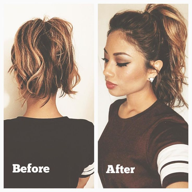 Want A Fuller Ponytail Even With Short Hair No Problem Extensions Necessary I