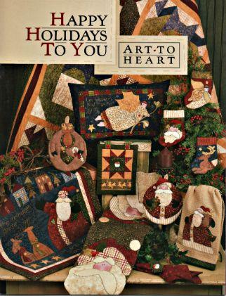 Happy Holidays to You by Nancy Halvorsen #Christmas #Patterns #Quilt #Sewing #NancyHalvorsen #ArtToHeart #HappyHolidays