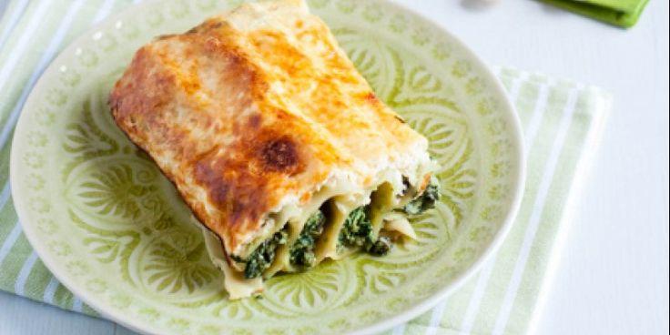 ΠΑΝ ΜΕΤΡΟΝ ΑΡΙΣΤΟΝ: Κανελόνια με σπανάκι, τυριά & κρούστα γιαουρτιού.....