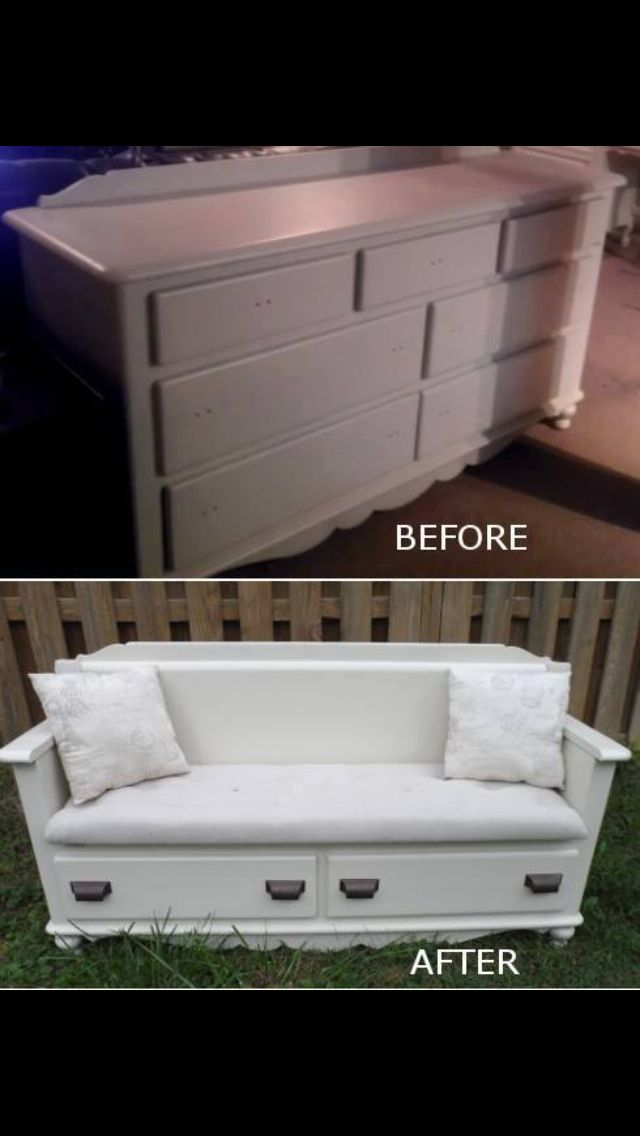 Dresser makeover ... So want to do this so the girls have a place to sit and read books or watch TV besides their beds or floor.