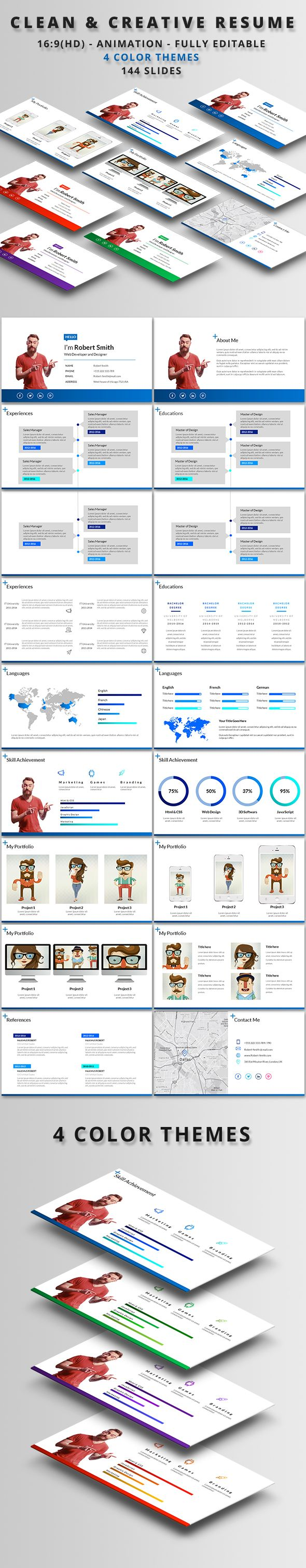 10 Best Presentation Templates Themes Images On Pinterest