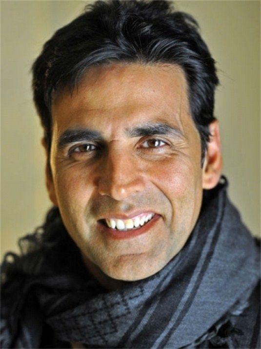 Akshay Kumar - man in scarf. No better fashion apparel than a nice smile!