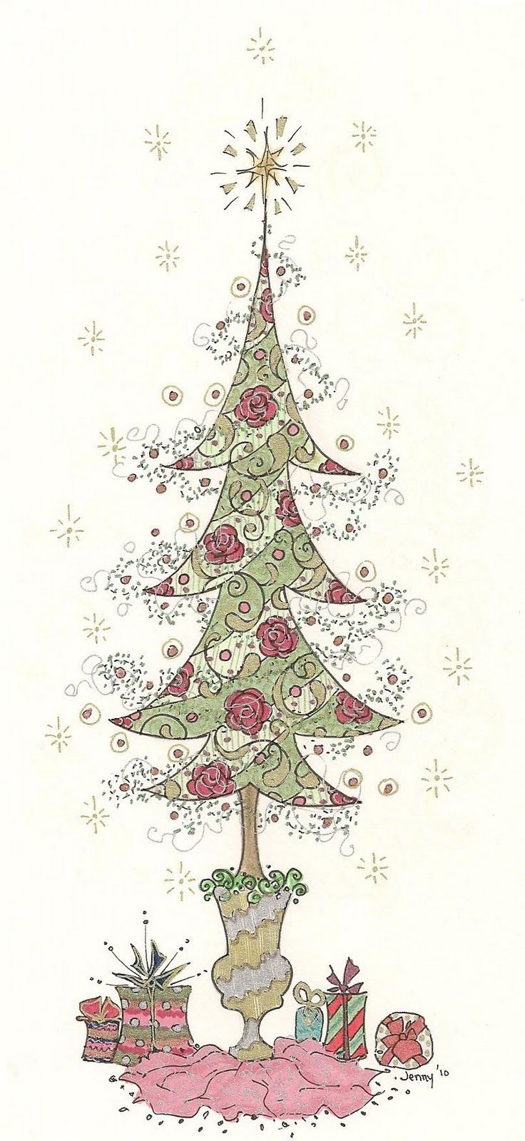 Jennelise   Jennelise Rose Art Work   Pinterest   Christmas ...