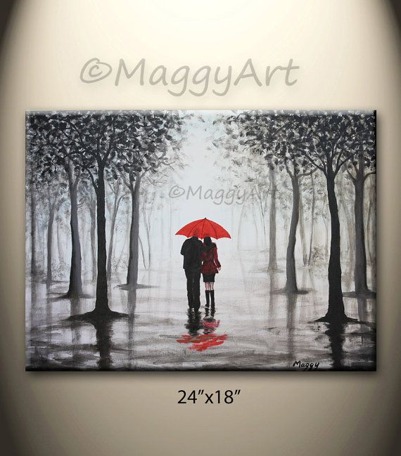 parapluie original de peinture abstraite rouge d cor la maison marchant dans la pluie. Black Bedroom Furniture Sets. Home Design Ideas