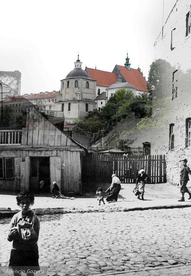 Then and now, Ulica Krawiecka no longer exists - Lublin.