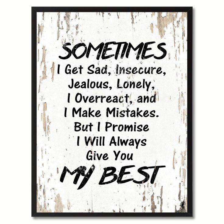 Sometimes I Get Sad Inspirational Quote Saying Gift Ideas Home Décor Wall Art