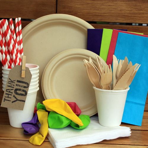 Eco Friendly Party Package for your next BBQ, Birthday or Rainbow celebration. Package is $39.95 and comes as a Pack of 12. 24 piece Wooden cutlery, 25 pack straws and 20 assorted coloured Balloons.