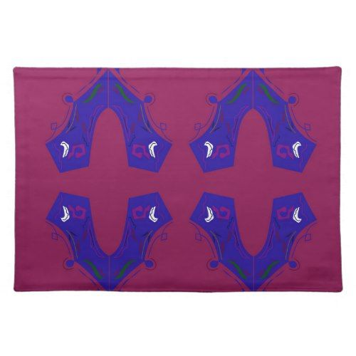 Luxury ornaments purple placemat - luxury gifts unique special diy cyo