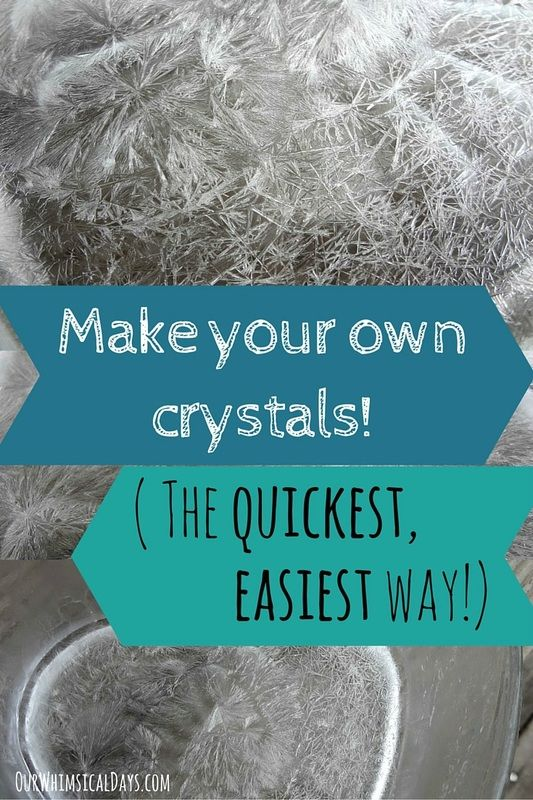 Beautiful crystals science activity using household ingredients - the quickest and easiest way ever!