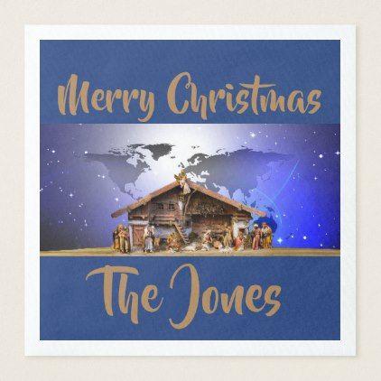Standard Dinner Napkins - Xmas ChristmasEve Christmas Eve Christmas merry xmas family kids gifts holidays Santa