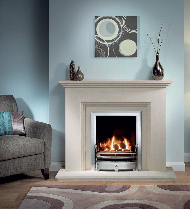 Cranbourne Limestone Fireplace Package With Gas Fire. May be too tall for our living room.